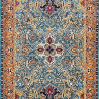 20036 Blue Medallion Persian Area Rugs