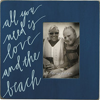 All You Need Is Love And The Beach - Box Sign Photo Frame 10-in