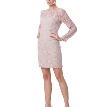 Js Collections Blush Lace Dress