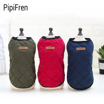 PipiFren Winter Dogs Clothes Jacket Costume Chihuahua Cat Coats For Pets Christmas Dachshund Clothing Yorkshire cappotto cane