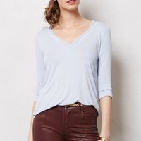 Chiffon Trim V-Neck by Bordeaux Lilac S P Apparel