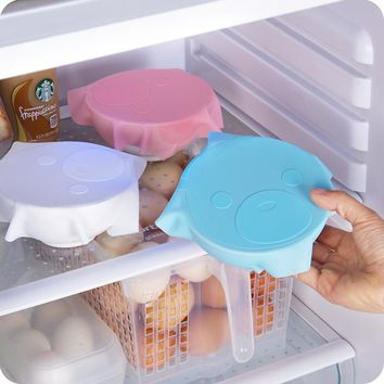 Top Quality Silicone Saran Wrap Reusable Cling Film Refrigerator Food Storage Cover Kitchen Vacuum Lid Sealer Kitchen Tools