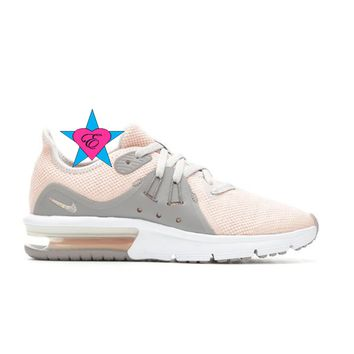 Girls Bedazzled Grey Peach Nike Air Max Advantage 2 | 3.5-7