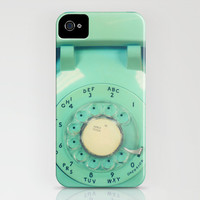 iPhone 5 case, iPhone 5, phone photo, mint, teal phone, vintage phone, case for iPhone 5, dial phone, iPhone accessory, cell phone case