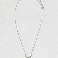 AEO Lapis Curved Bar Necklace, Silver