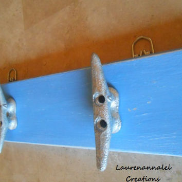 Lake House Decor - Nautical Nursery Decor - Boat Cleat - Boat Cleat Rack - Beach House Decor - Beach Cottage Decor