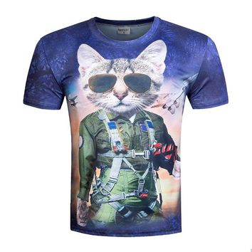 Top Gun / Harry Potter / Movie  Cat Short Sleeve T-Shirt