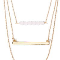 Layered Bar Pendant Necklace