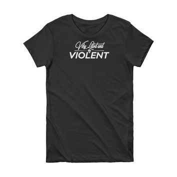 lewd and violent - Short Sleeve Women's T-shirt