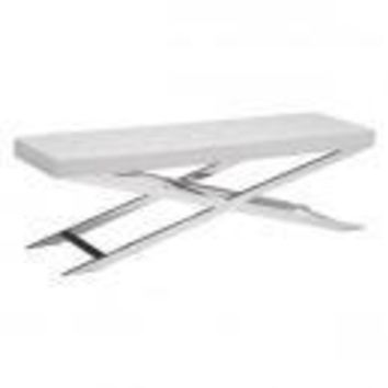 ZUO Modern Pontis Bench White 100337 Dining,Bedroom Benches