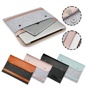 Liner Ultra Thin Leather Sleeve Bag Case For Apple Macbook Air Pro Retina 11 12 13 15 Laptop Anti-scratch For Mac book 13.3 inch