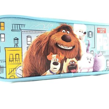 "Disney The Secret Life Of Pets  8"" Blue Pencil Case"