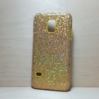 Glitter Case for Samsung Galaxy S5 Mini Gold