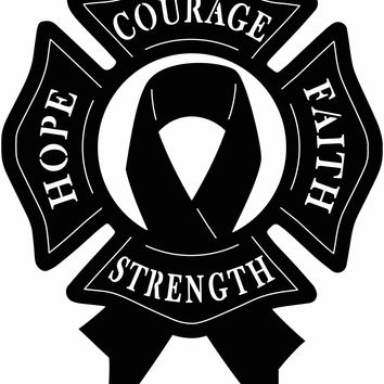 Ribbon Cancer and Benefits, Hope, Strength, Faith, Courage