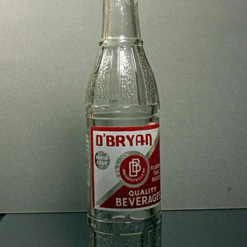 Vintage Collectible Soda Bottle Late 1940's O'Bryan Beverages