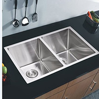 Double Bowl 304 Stainless Steel 16 Gauge Undermount Kitchen Sink