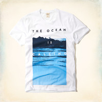The Ocean is Calling Graphic Tee