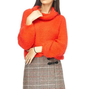 Christmas Turtleneck Chunky Knit Sweater