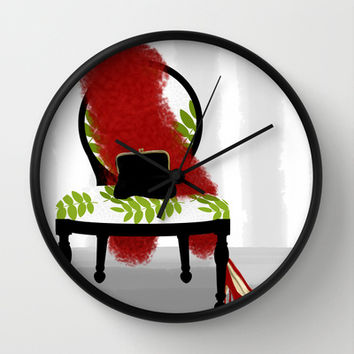 A Woman's Night Out - Dressing room art Wall Clock by Tina Lavoie's Glimmersmith