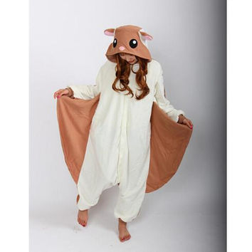 Flying Squirrel Onesuits Pajamas Unisex Adult Pajamas Cosplay Costume Animal Onesuit Sleepwear Jumpsuit