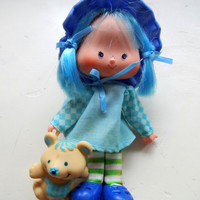 Vintage Blueberry Muffin Doll with Cheesecake the Mouse 1980s