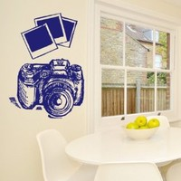Wall Decals Photo Camera Canon Nikon Decal Vinyl Sticker Home Decor Photo Studio Window Decals Living Room Art Murals Chu1339