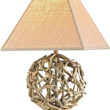 Driftwood Sphere Table Lamp