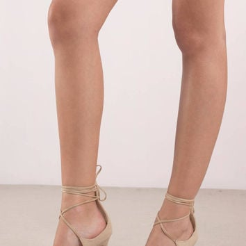 Jennifer Strappy Closed Toe Heels