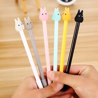 4pcs/Lot Stationery Cute Totoro gel pens Gel-Ink Pen Signature Pen Escolar Papelaria School Office Writing Supply Students Gifts