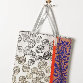 Wallflower Tote by Jasper & Jeera Blue One Size Bags