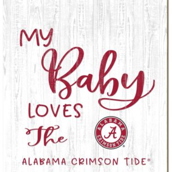 Alabama Crimson Tide | My Baby Loves | Sign | Wood | Rope Hanger | NCAA