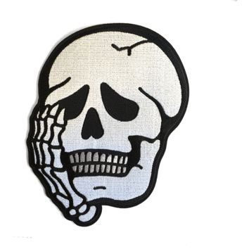 Worriers Anxiety Club Skull - Back Patch