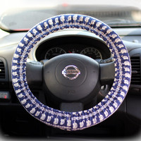 Steering-wheel-cover-for-wheel-car-accessories-Elephants-print-Steering-wheel-cover
