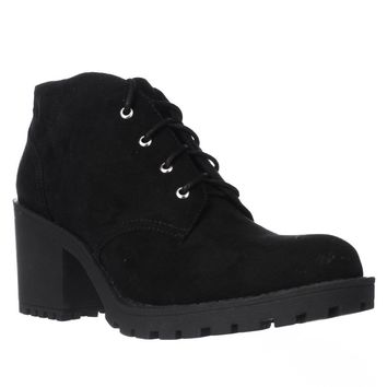 AR35 Reaghan Low Rise Combat Boots, Black, 7.5 US