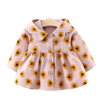 Baby Girl Sunflower Hooded Jacket