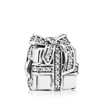 PANDORA Charm - Sterling Silver & Cubic Zirconia Sparkling Surprise
