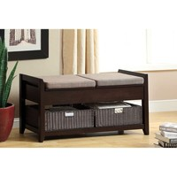 Furniture of America Basiten Modern Storage Bench with Under Seat Storage | Overstock.com Shopping - The Best Deals on Benches