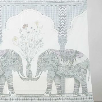 Elephant Shower Curtain - Urban Outfitters