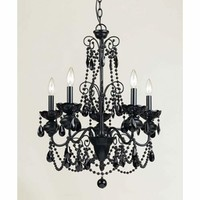 AF Lighting 7506-5H Mischief Black Five-Light Chandelier