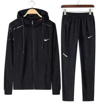 DCCKHI2 NIKE Sports suit, a long sleeve jacket, leisure sports training clothes two piece Tagre-