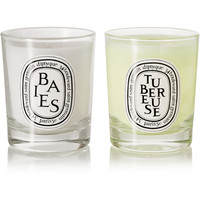 Diptyque - Baies and Tubéreuse set of two mini candles