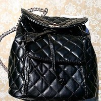 Quilted Backpack Bag by Ariana Grande with Gold Chain Straps New with Tag
