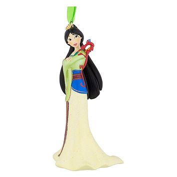 Disney Parks Mulan with Mushu 3D Glitter Christmas Ornament New with Tags