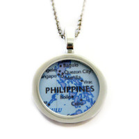Philippines Map Pendant Necklace