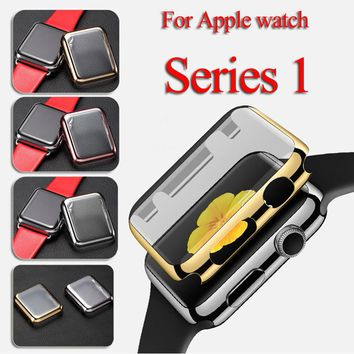 Apple Watch Plastic Protect Case with Screen Protector Two in One Cover 38 / 42mm for Apple Watch Series 1 Case AWPC
