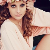 Wildfox Couture Mon Cherie Classic Robe in Peach Peony
