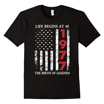 1977 The Birth Of Legends American Flag T-Shirt, 40th Gift