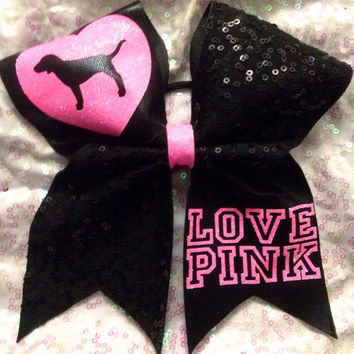 Love pink! Cheer bow