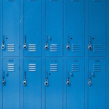 Blue Lockers Photo Backdrop / 1500