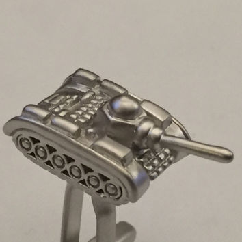 Tank Cufflinks, Rolling Thunder Cufflinks, Silver Tone Cuff Links, Wedding Cuff Links, Father's Day